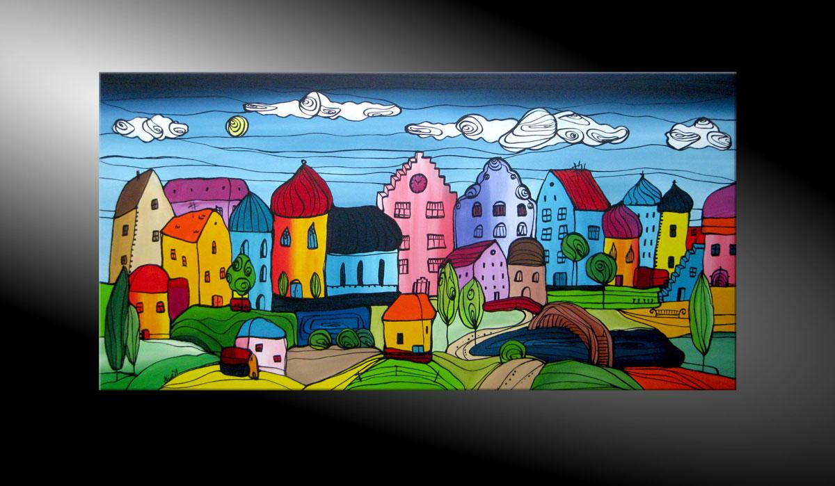 atelier mico city fantasies no 46 acryl malerei. Black Bedroom Furniture Sets. Home Design Ideas